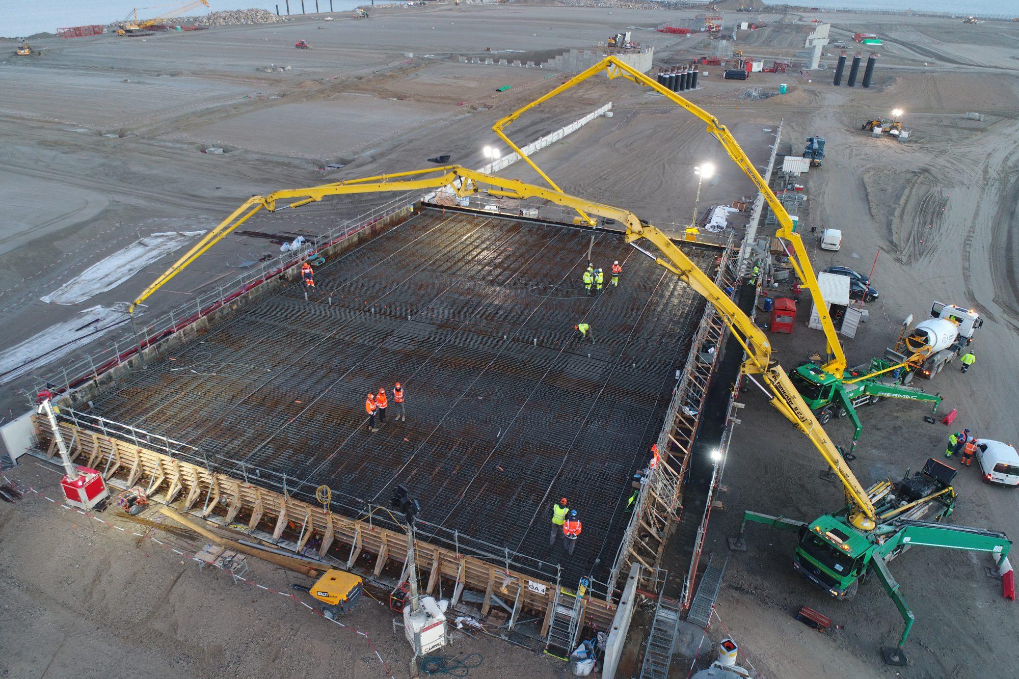 Pompe à béton Port de Calais Novembre 2018